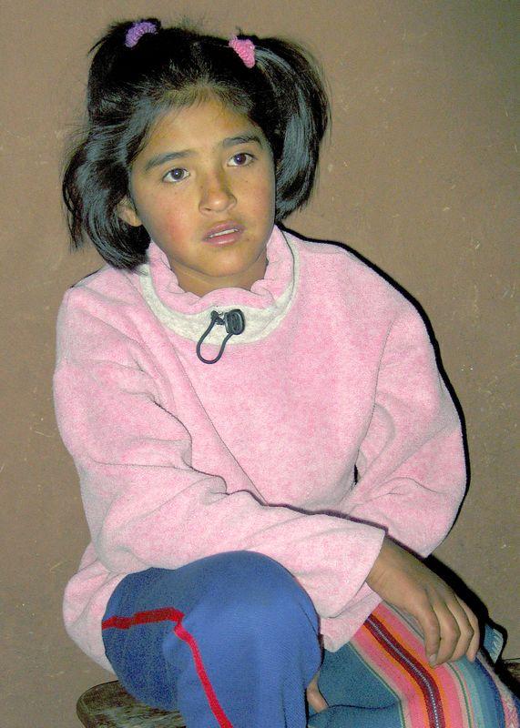 Daughter of our supper host, Urambamba, Peru
