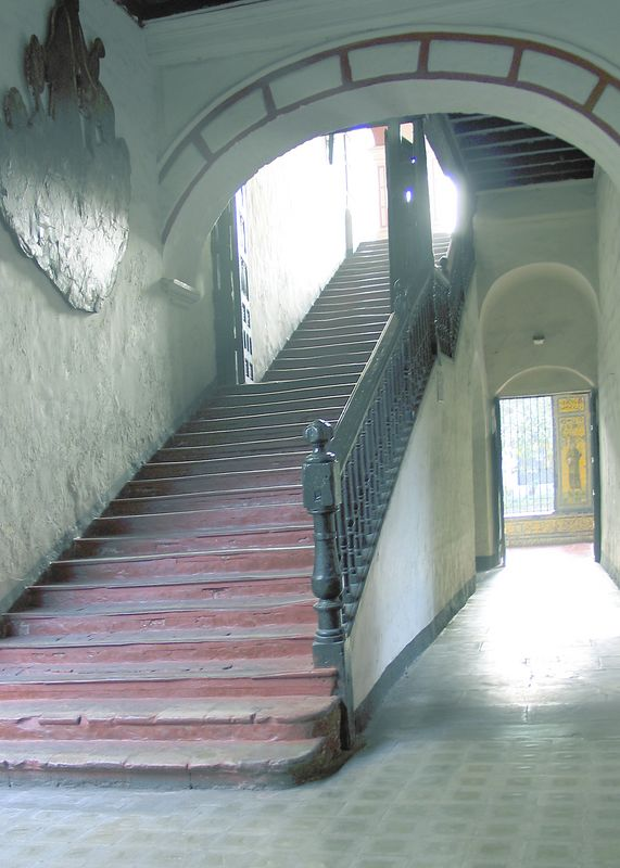 Staircase at the San Francisco convent, Lima, Peru