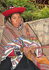 Saleslady at Incaland hotel in the  Urambamba Valley of Peru