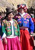 Sandy in native clothes with girl from Copomaya, above Lake Titicaca at 13,000 feet elevation