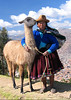 Wizened old women with Llama
