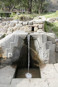 Sacred fountain at the base of the Ollantaytambo Ruins.