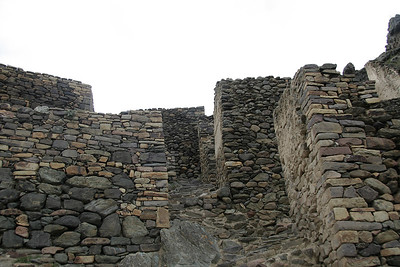 These walls inside the Ollantaytambo Ruins aren't as ornate as the others - most likely this means they were for sleeping quarters or something else that wasn't sacred.