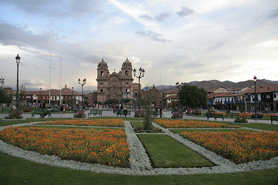 View of the Plaza de Armas in Cuzco, Peru.