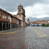 Main square of Cuzco, Peru. Cuzco is the fourth largest city of Peru with approximately 500,000 inhabitants. It is the ancient Inca capital with a strong overlay of Spanish influence.