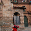 Inca woman passing near the entrance of Sanctuary Lodge, our digs in Cuzco.