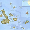 Map showing the Galapagos Islands,