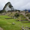 Huayna Picchu peeks thru mists