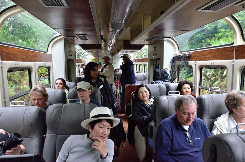 Train ride to Machu Picchu.