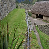 Water flowing in irrigation channel at Machu Picchu.