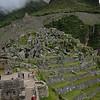 Inca terraces  and stone quarry.