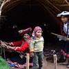Peruvian family demonstrates their craft.
