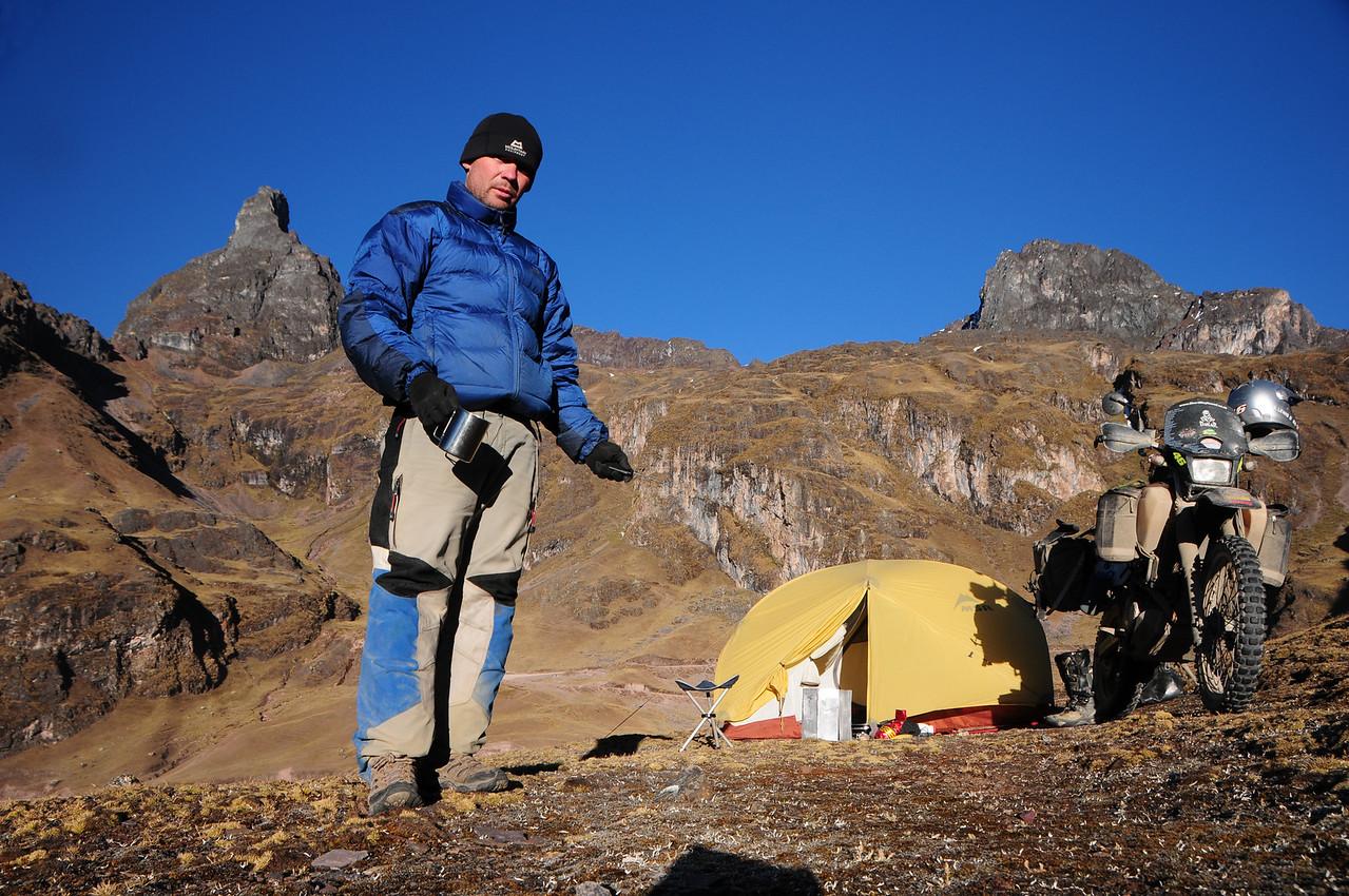 Messing with my camera remote. Bush camping north of Calca, Peru at 4342m