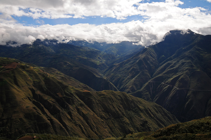 View from Kuelap pre-Inca ruins. Peru