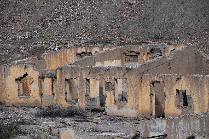 Abandonned  village on the Tauca - Quiroz road. Peru