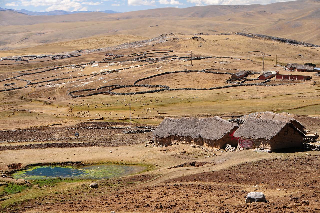 Small hamlet along the Paccaritambo - Santo Tomas Road. Peru