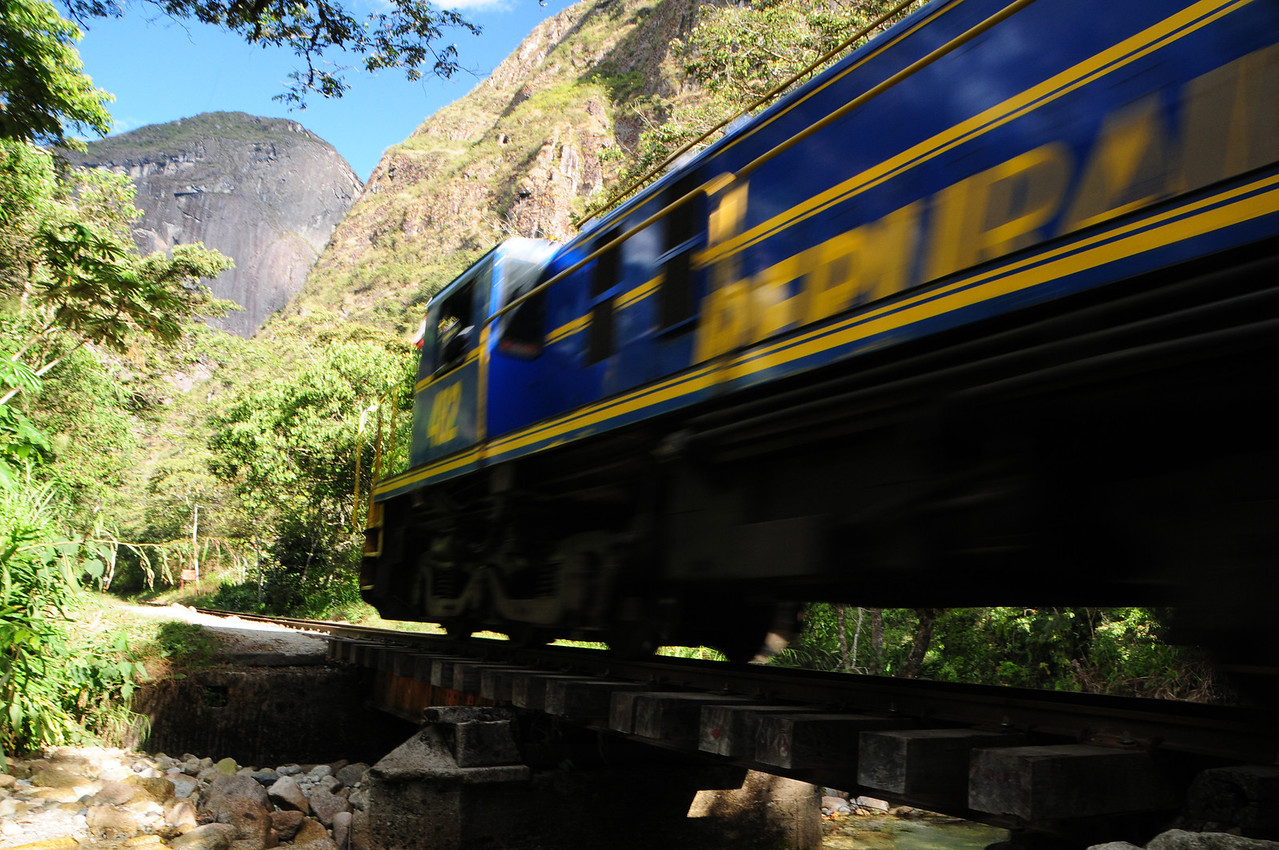 You need to keep your eyes & ears open along the railway line between Aguas Calientes and 'Hidroelectrica'. Peru