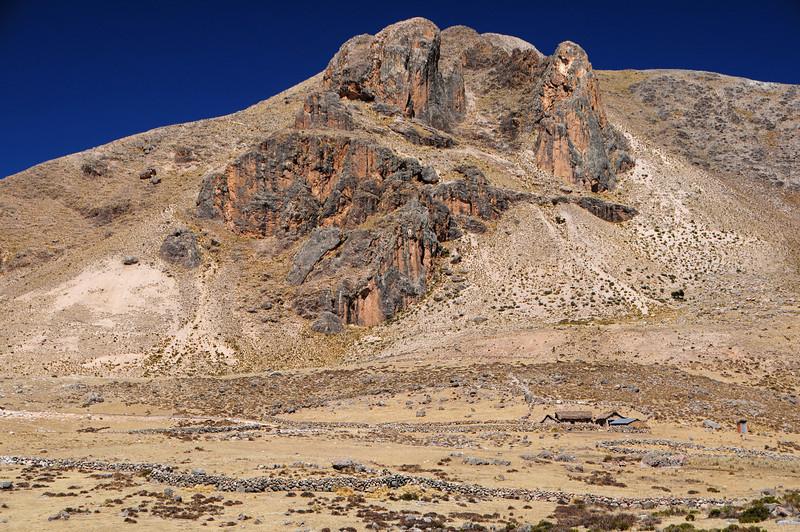 Farmhouse along the Cayarani - Suyckutambo - Caylloma road. Peru