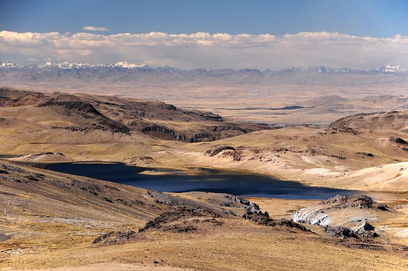 Un-named lake along the Cayarani - Suyckutambo - Caylloma road. Peru