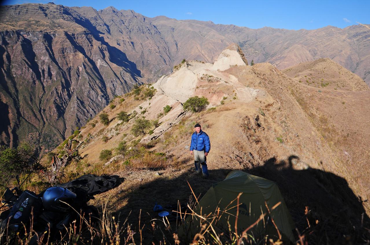 Bush camping just south of Paccaritambo, Peru