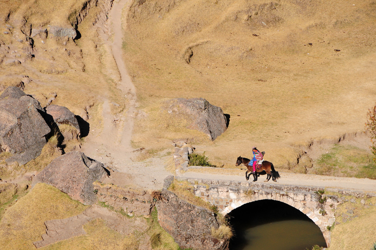 View from the Paccaritambo - Santo Tomas Road. Peru