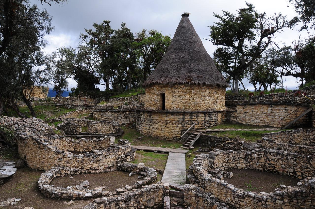 Kuelap pre-Inca ruins. Peru