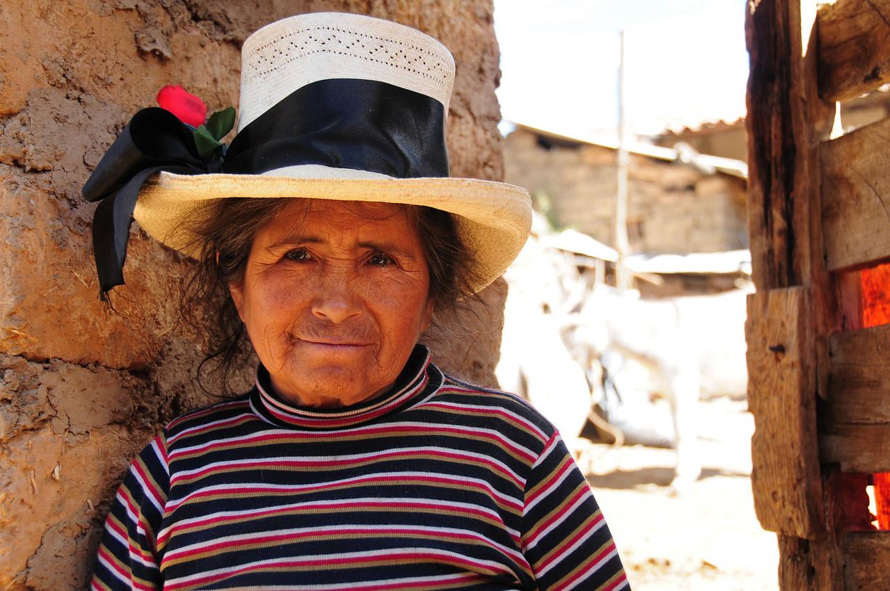 Local lady in Llapo Village, nr Tauca. Peru