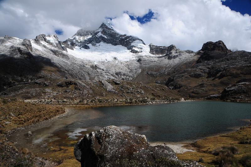 Quebrada Morococha.  Yanama - Yungay Road.  Cordillera Blanca. Peru