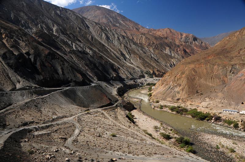 Yuramarca - Huallanca Road. Peru