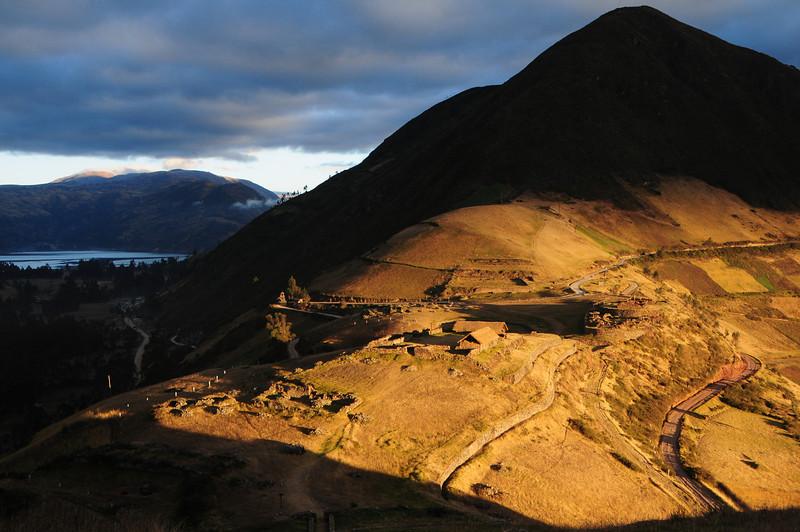 Sunrise view from Sondor ruins nr Lago de Pacucha,  nr Andahuaylas. Peru