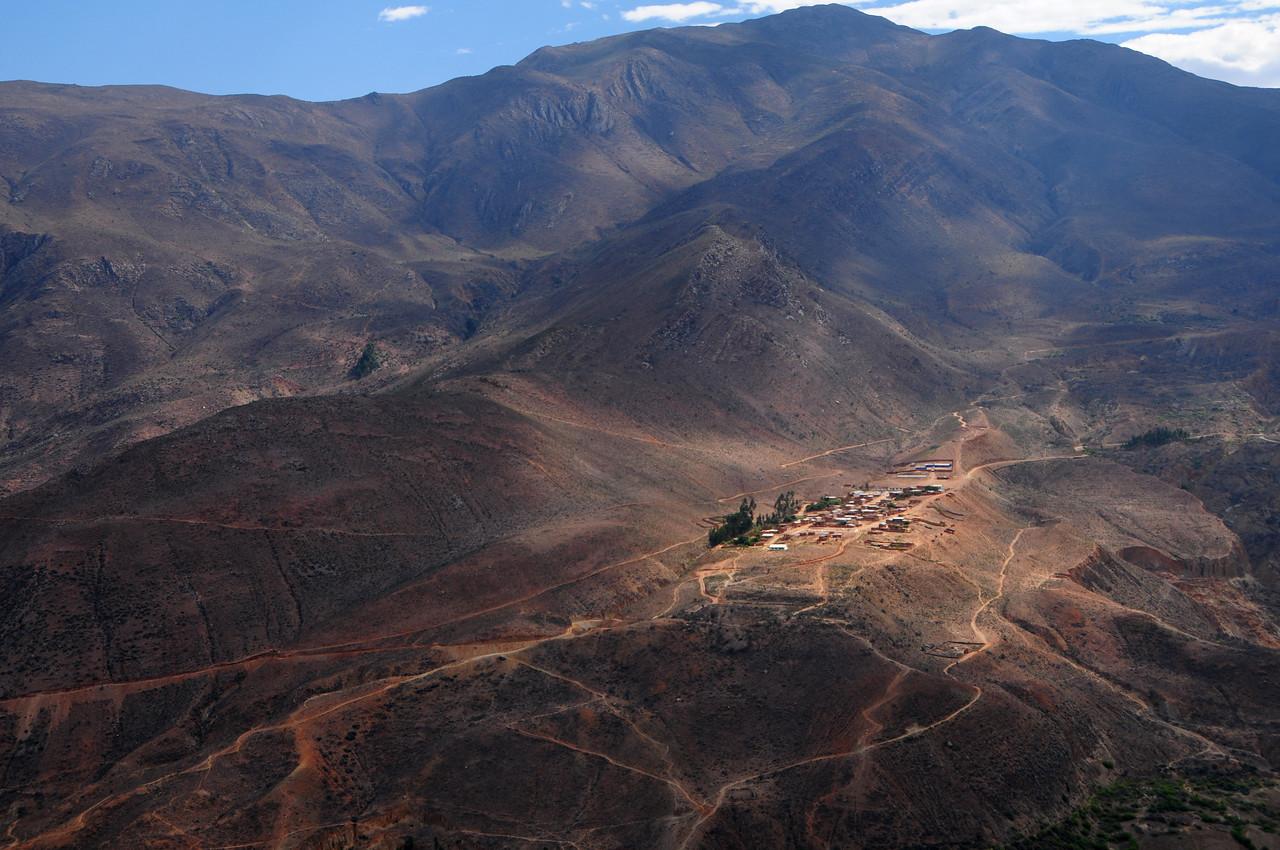Conamines Village(?).  Ancos - La Pampa road. Peru