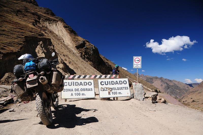 Quellouno - Calca Road 6km south of my campsite. Peru