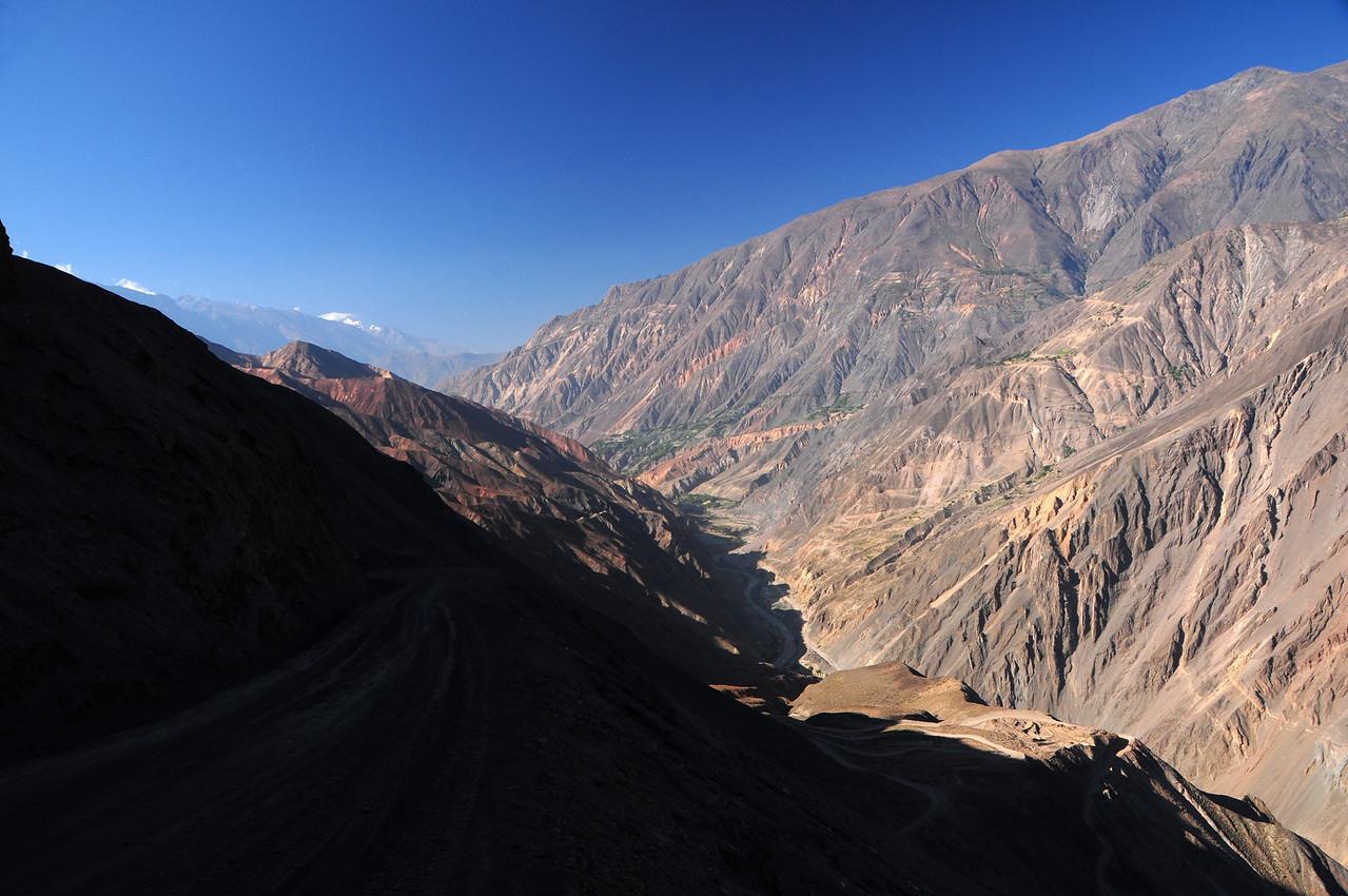 Rio Santa seen from the La Pampa  - Huarochiri road. Peru