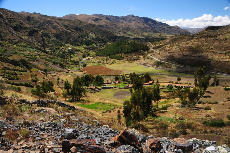 Chacas - Sapchaa - Yanama Road.  Cordillera Blanca. Peru