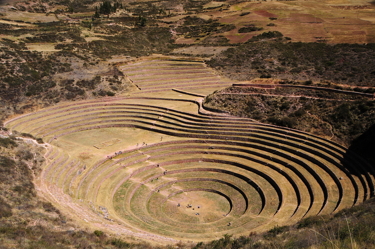 Moray Inca site. Sacred Valley, nr Cusco. Peru