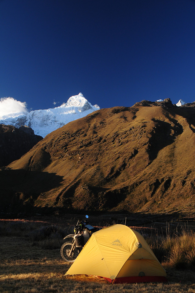 Camping at Llanganuco Mountain Lodge.  Cordillera Blanca. Peru