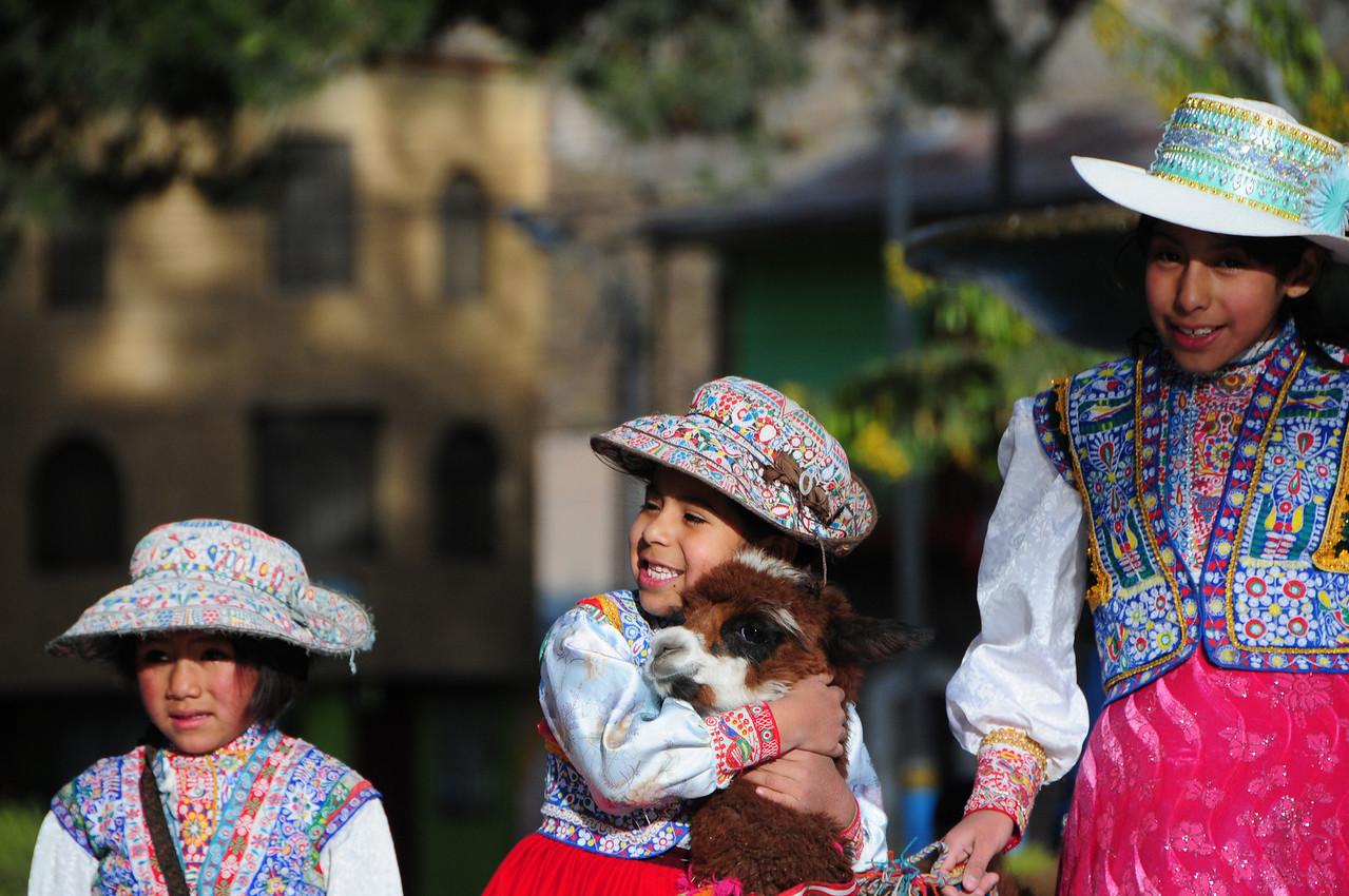 Sunday photo's in Chivay, Peru