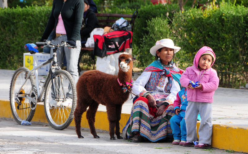 Local dress in Chivay (eastern end of Colca Canyon), Peru