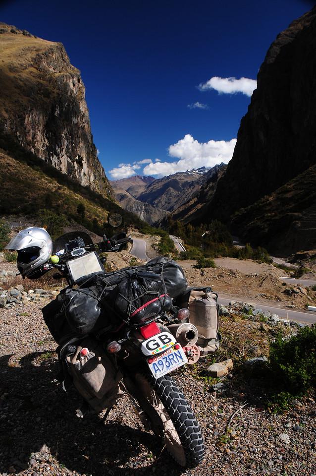 Ollantayabo - Santa Maria Road. Peru