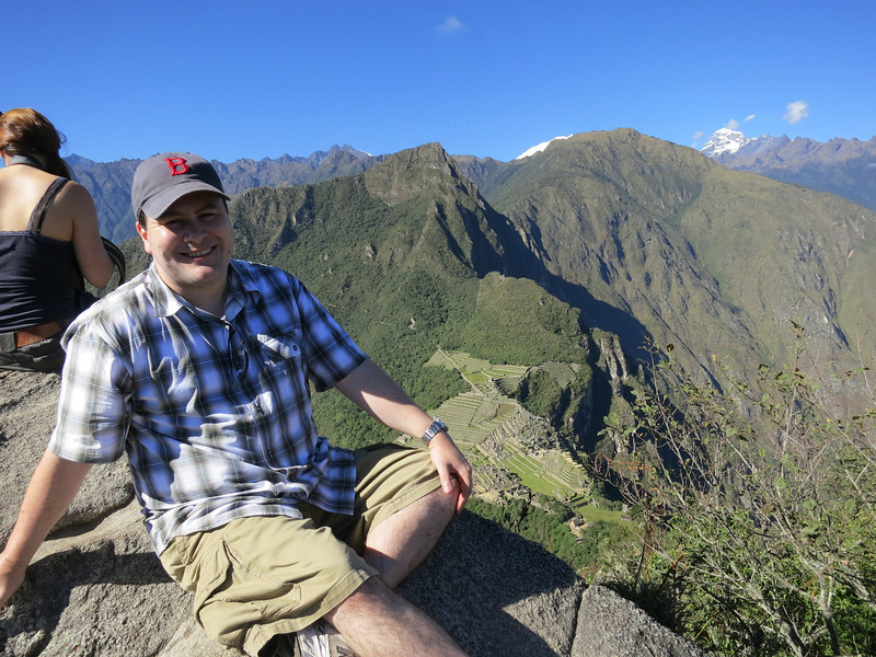 How YOU doin? Super Model Aaron, chill in' on the peak of Wayna Picchu.