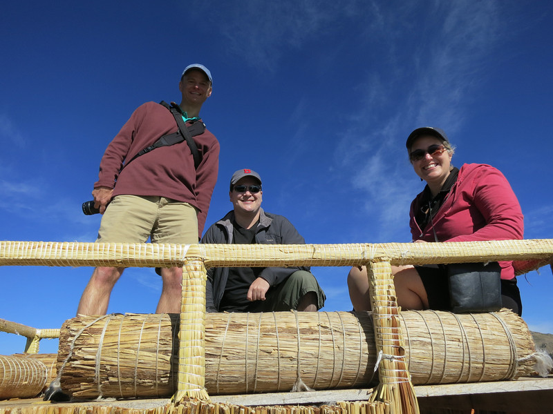 The reed boat had a platform that we hung out on - impressive that it was all hand built (at least that's what they said…)
