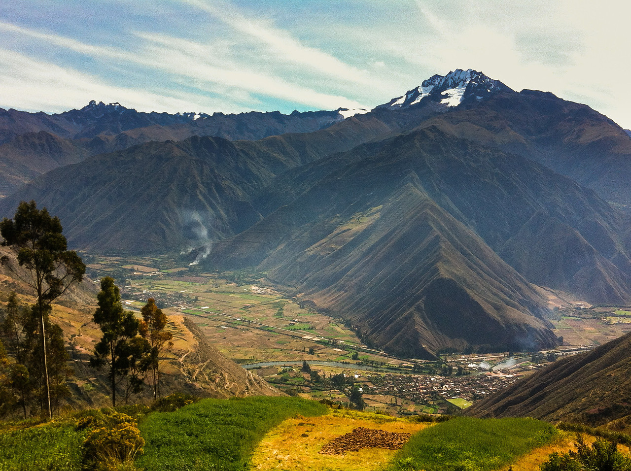 """The Sacred Valley of the Incas or Urubamba Valley is a valley in the Andes of Peru, close to the Inca capital of Cusco and below the ancient sacred city of Machu Picchu. It is located in the modern Peruvian region of Cusco. In colonial documents it is referred to as the """"Valley of Yucay"""", according to recent researches it encompasses the heartland of the Inca Empire.[1]"""