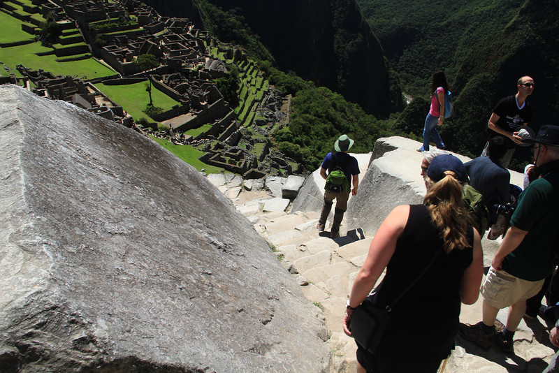Yeah, there were a lot of stairs on our trip to Peru.