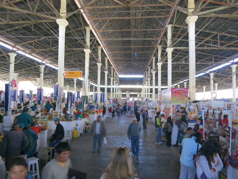 Inside the Mercado Central in Cusco - Kay felt like we were in an episode of No Reservations, Anthony Bourdain's show (and he was actually in this market when he was in Peru!)