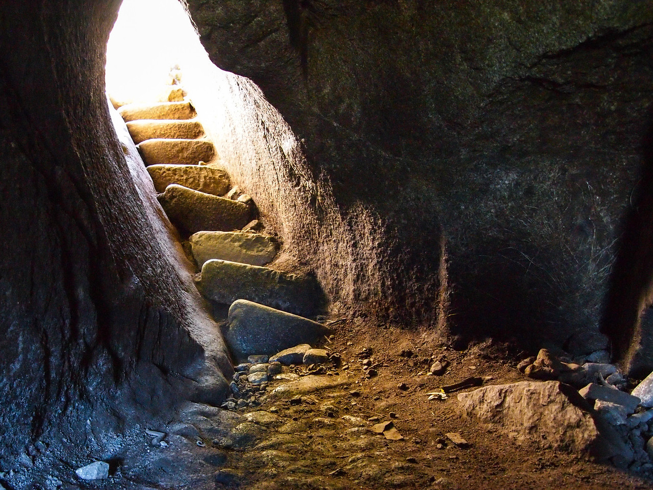 Small cave on the top of Huayna Picchu