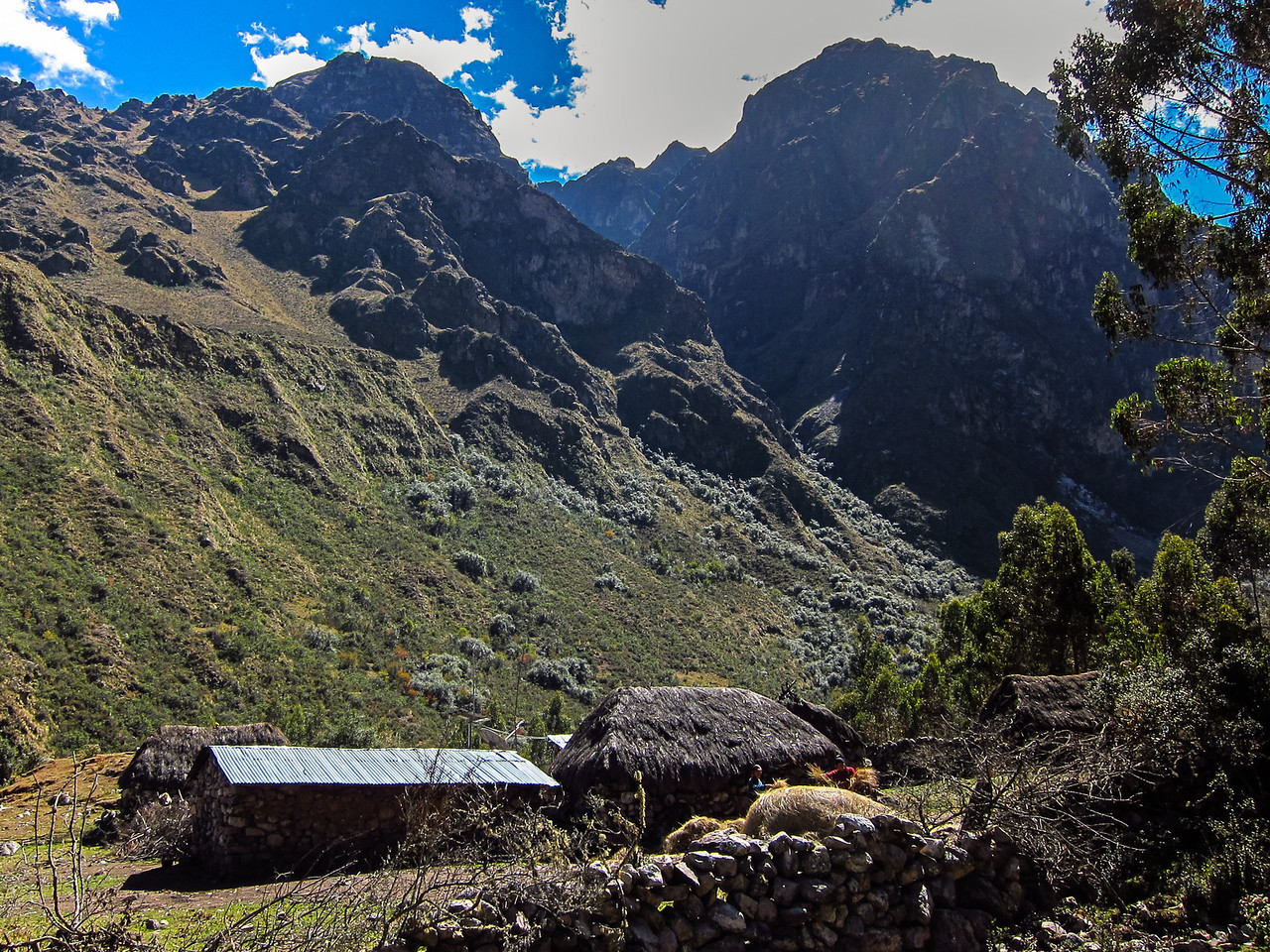 Small village in the Pumahuanca Valley. These villagers own the entire valley.