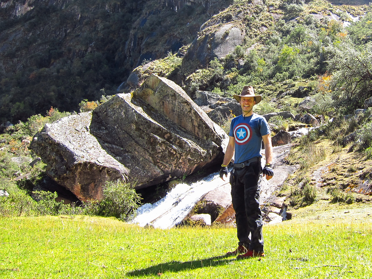 First waterfall in the Pumahuanca Valley - 2 hours in.
