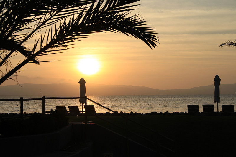 Sunset on the Bahia de Paracas.