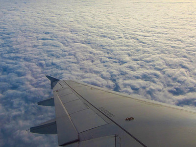 During winter (this is souther hemisphere) the entire coast of the Pacific ocean is covered in low thick clouds.