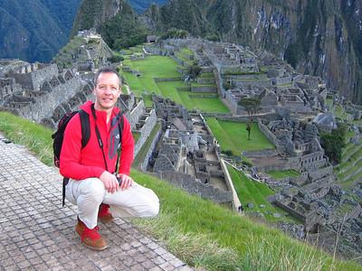 Machu Pichu before the sunrise.